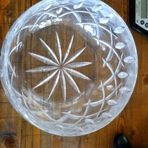 Large Crystal Glass Party Serving Bowl